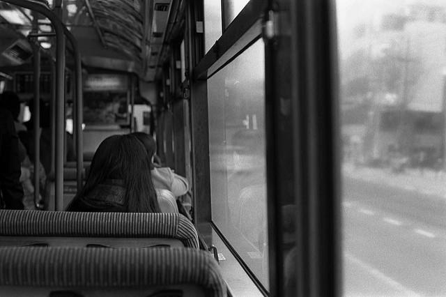 路線バスの車窓から