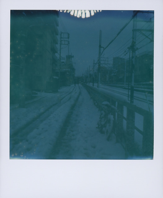snow day polaroid