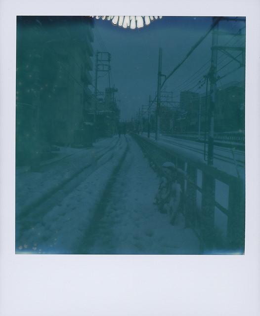 snow day polaroid